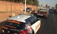 Cyclist knocked down on Atlas Road, closest corner Phillips Road, in Boksburg.