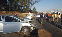 Serious collision on Allandale Road and Greg Street, Midrand