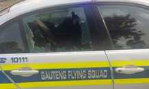 Photos from shootout with police after hijacking