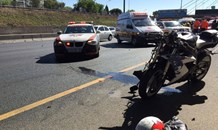 Two bikers injured on the N12 West before the Gillooleys Interchange, on Johannesburg's East Rand.