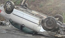 Two vehicles overturned on N3 South, Bedfordview