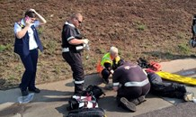 2 People seriously injured on motorbike accident on N1, Centurion