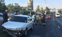 Hit and run collision on the M1 South before Glenhove, in Melrose.