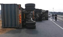 Heavy delays on N3 North & N12 approaching Gillooleys Interchange due to overturned truck
