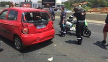 Scooter rider injured in rear-end crash on the N3 South after Linksfield