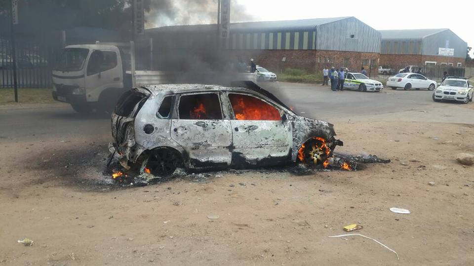 Foreigner Killed And Vehicle Burnt Near Taxi Rank In Polokwane Limpopo