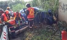 Warner Beach crash leaves driver injured