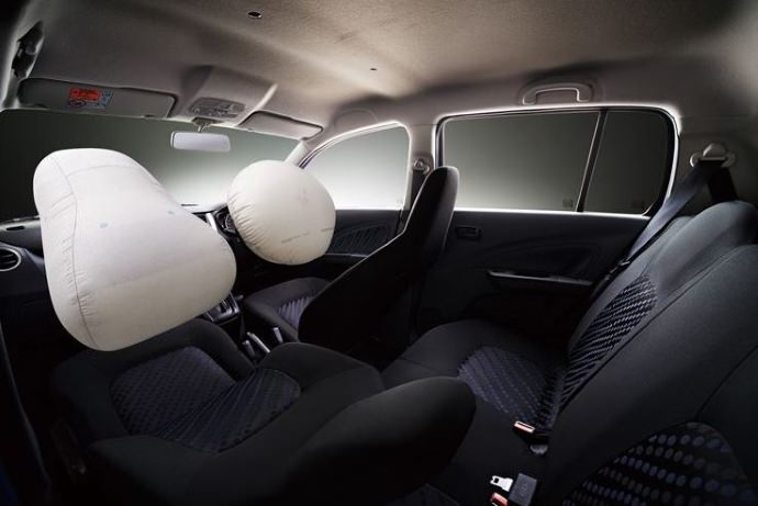 What are the types of airbags found in modern vehicle?