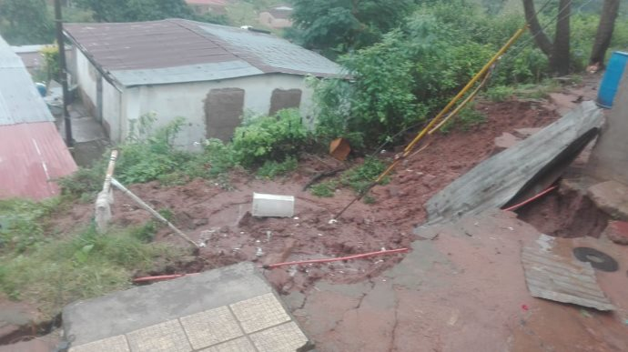At least six people have died in Durban mudslides