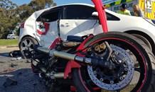 Biker injured in collision, Stellenbosch.