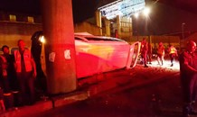 10 Injured as taxi rolls in the early hours of Sunday morning.
