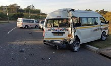 Three injured in taxi crash in Durban