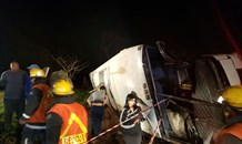 More than 50 injured when bus overturned on the N2 in Amanzimtoti, Kwa-Zulu Natal.
