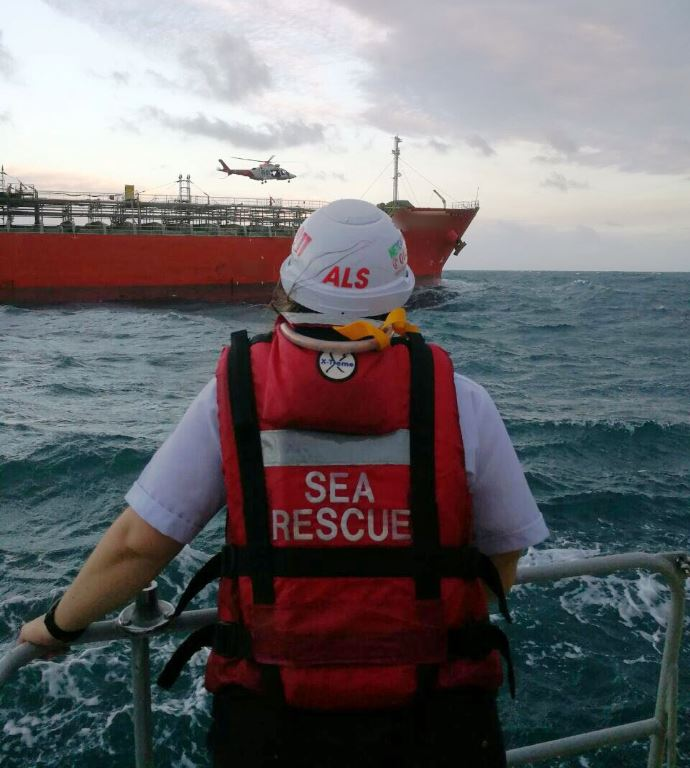 Cardiac patient airlifted from a vessel at sea following a multi-agency rescue effort in Durban