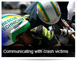 Communicating with crash victims