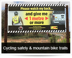 Cycling safely on South African roads and mountain bike trails