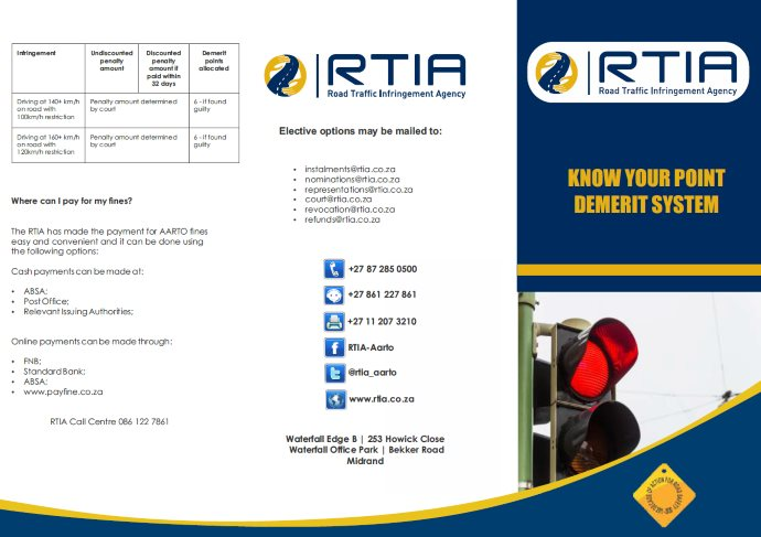 The RTIA has made the payment for AARTO ?nes easy and convenient and it can be done using the following options