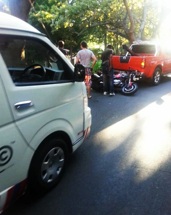 Male biker in critical condition after a collision on