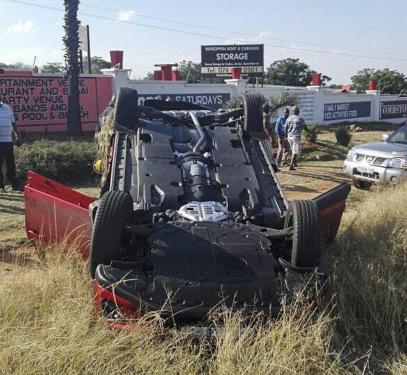 Expensive road crash with Lamborghini in Witkoppen