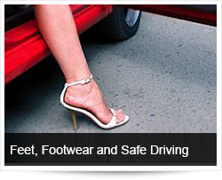 Feet, footwear and safe driving
