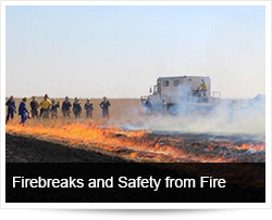 Firebreaks and Safety from Fire in Rural and Farming Areas