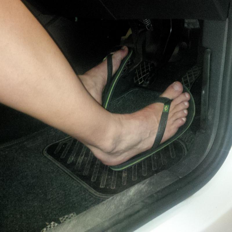 Feet Footwear And Safe Driving