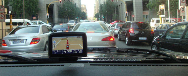 Positioning of the GPS device and safe driving
