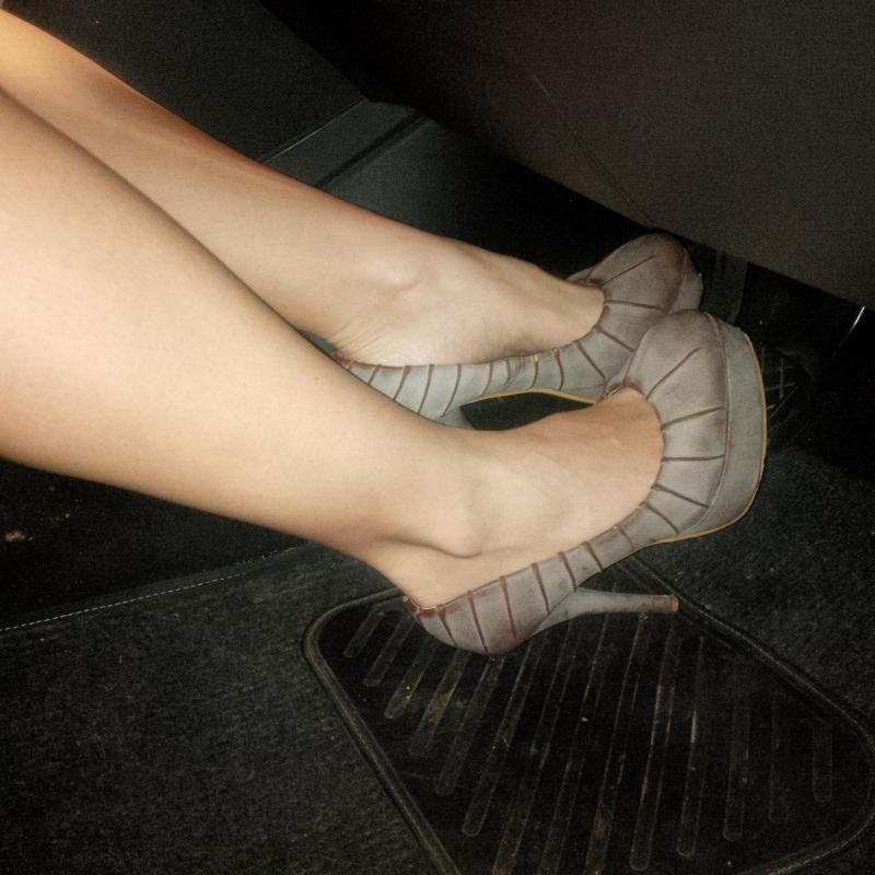 Driving with High Heels and Platform shoes