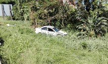 Four injured after vehicles are allegedly pushed from road by taxi