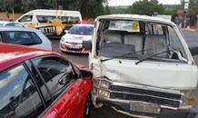 Five injured in peak hour collision