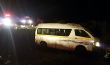 One killed and six injured in taxi collision