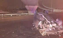 Vehicle rollover on the N2 Spaghetti junction
