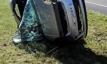 Pennington roll-over crash leaves elderly man seriously injured