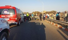 Woman seriously injured after four vehicle collision, Potchefstroom.