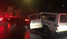 Three dead in taxi, truck collision on the N12 West