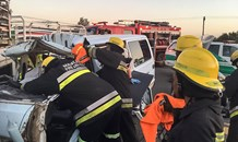 Taxi collision at the Brandfort turn-off
