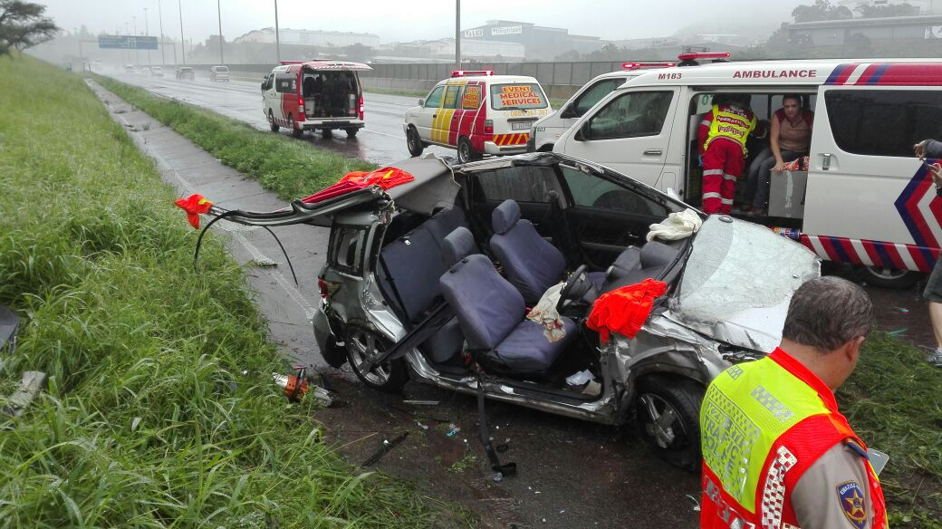 Patients Extricated From Vehicle On The N3 In Pietermaritzburg Near  Richmond Road Before The Toll Gate.