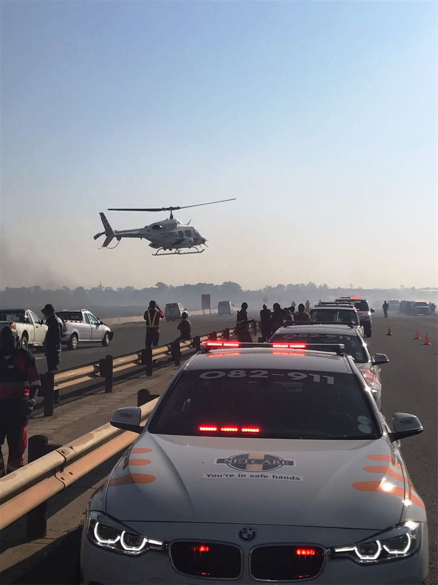 N17 SPRINGS: 1 killed, numerous injured as veld fire results