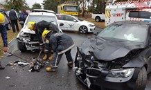 4 Injured in head on collision on the M1 Higginson Highway