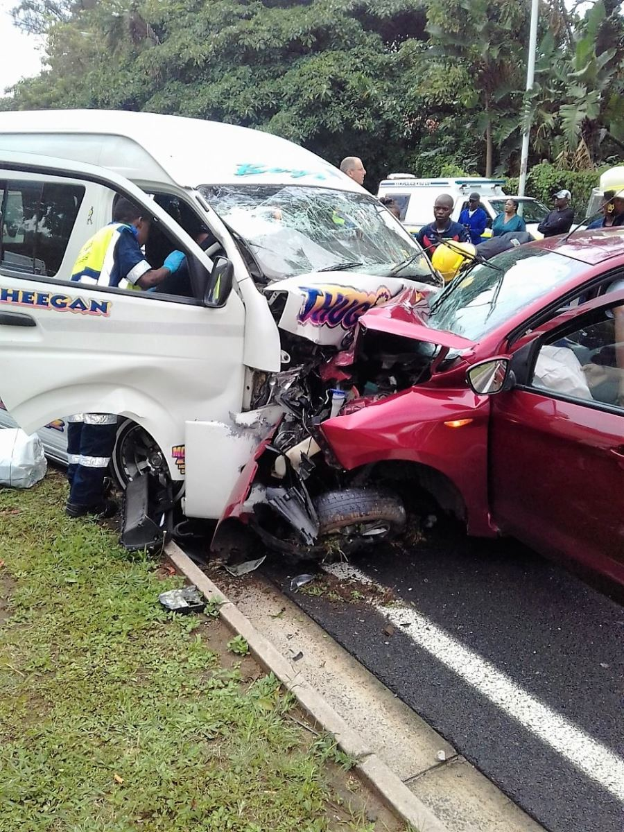 13 Injured in Head-on Crash on the M4 Ruth First Highway near