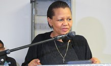 Northern Cape MEC for Education Ms Martha Bartlett at welcome gala of the Provincial Road Safety Youth Summit