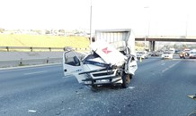 One killed and another injured in collision on the N1 south near Gordon road, Roodepoort.