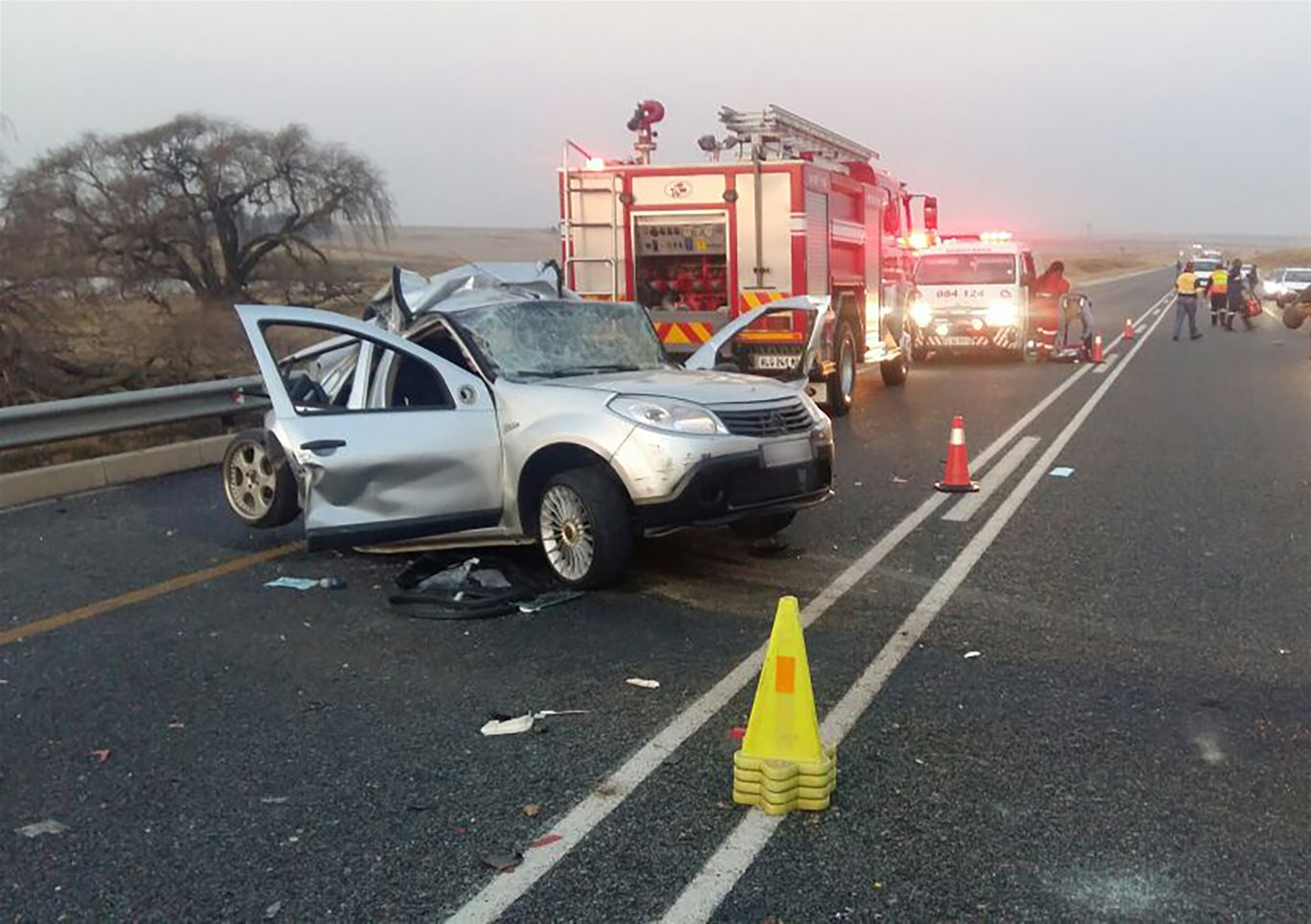 Two people critically injured in N17 collision, one airlifted at Secunda