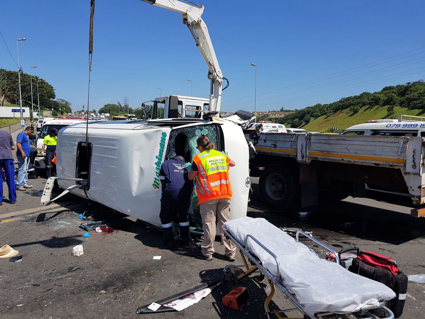 Multiple injured in Taxi Crash on the M1 Higginson Highway