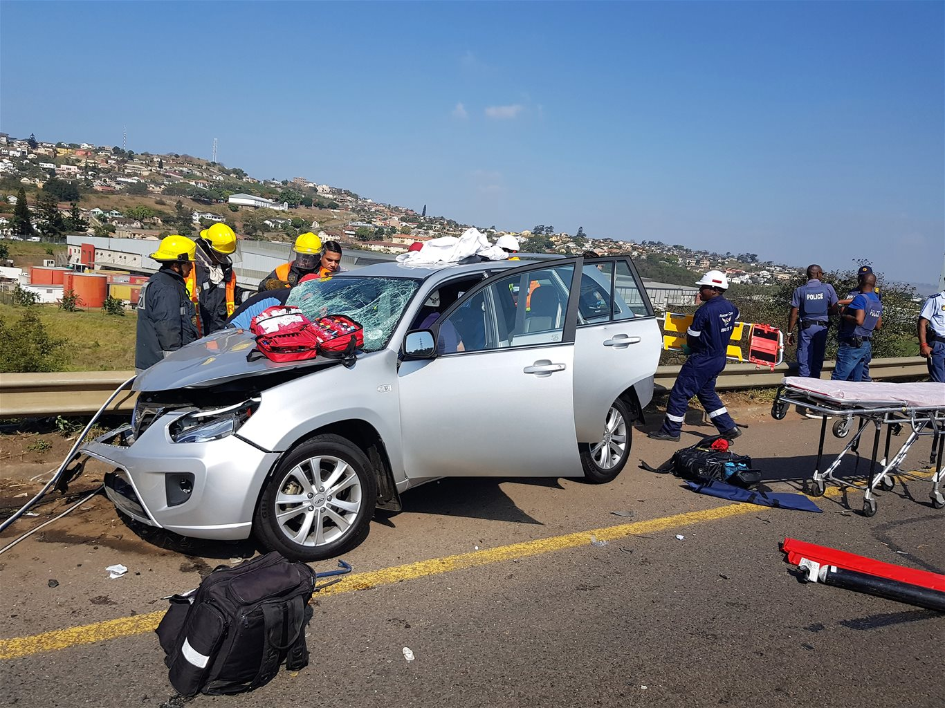 2 Killed, 5 injured in crash and shootout on N2 South Bound near ...