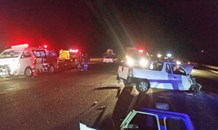 Six injured in late night collision on the N4 between Middelburg and Belfast
