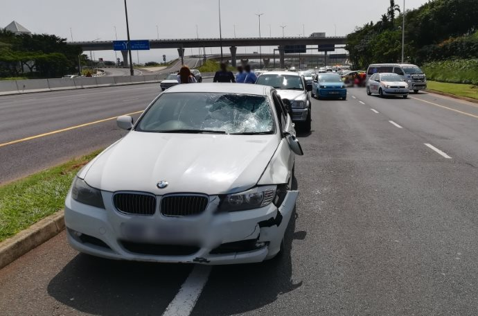 One critical after two pedestrians were struck down just before the Umhlanga Ridge off-ramp