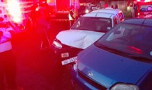 Three injured in collision in Marianhill road in Pinetown.