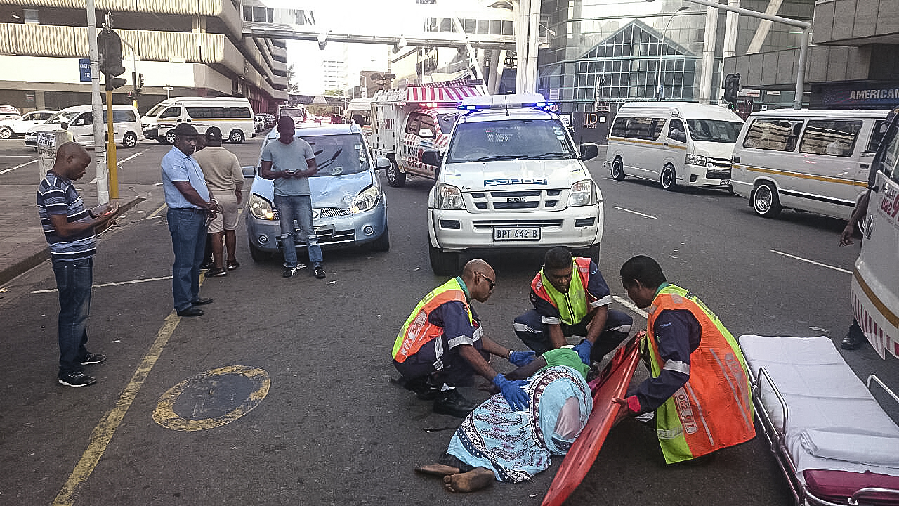 Durban pedestrian crash leaves female seriously injured