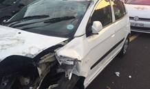 Three injured in collision on the N3 near the N2 off-ramp in Blackhurst, Durban.